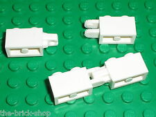 2 x LEGO white Hinge Brick Locking 30540 30541/8118 60044 4860 8864 70802 10024
