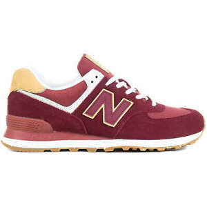 New Balance NB 574 Men's Lifestyle Shoes Casual Sneakers Burgundy ML574AD2