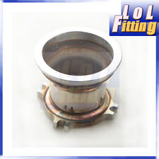 UNIVERSAL 2.5'' 4 BOLT TO 3.0'' V-BAND ADAPTER TURBO GT35 T3 STAINLESS STEEL