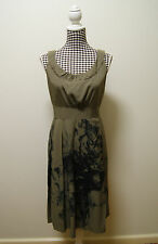 JACQUI-E DRESS BROWN BLACK TEA DRESS, Sz 12 (#926)