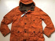 Polo Ralph Lauren Reversible Waxed Camo Dusk Orange Anorak Jacket Coat- Large