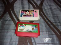 JALECO BURN BASEBALL & BONUS PEACH BOY LEGEND LOT OF 2 GAMES FAMICOM