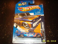 Hot Wheels 2012 Heat Fleet '12 Custom '62 Chevy Pickup Blue w/Surfboard