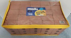 BUILDING FLOOR BLOCKS Actual Brick Sized 25 piece set Foam NEW Stem Building Toy
