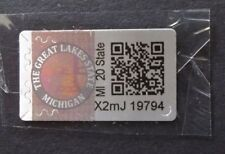 MICHIGAN CIGARETTE REVENUE STAMPS FOIL w/ HOLOGRAM circ 2016 - CURRENT 4 COPIES