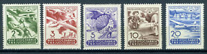 YUGOSLAVIA 1950 AIR MAIL COMPLETE SET Mi.# 611/615 PERFECT MINT NEVER HINGED