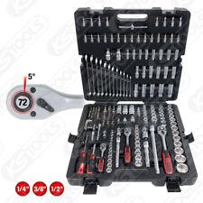 """KS Tools 1/4"""" + 1/2"""" Set di chiavi a bussola, 216 pezzi Anello Chiave Bocca 917.0216"""