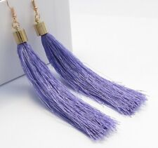FASHION LONG SILK TASSEL DANGLE DROP STUD EARRINGS e1023
