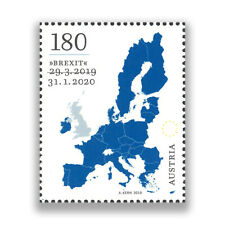 """Austria 2020 """"BREXIT""""/Map of Europe Single Stamp Mint Unhinged"""