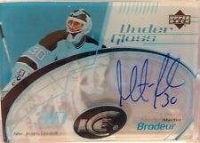 03-04 Martin Brodeur UpperDeck Ice Under Glass Autograph