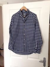 Navy Navy Shirt Checked Small Fitted Blue/White/Black - <E944