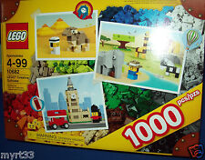 LEGO 10682 CREATIVE SUITCASE 1000 bricks pieces eyes wheels RETIRED SEALED NISB