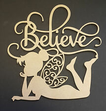 Believe MDF quote craft shape special occasions kids birthday wall art