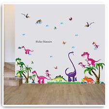 Dinosaurio Adhesivos de pared animal selva Árbol cuarto del Bebé para dormitorio