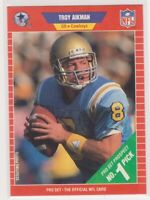 1989 pro set #490 TROY AIKMAN dallas cowboys rookie card PSA 9 Graded Card