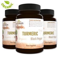 270 Black Pepper & Turmeric Capsules: Organic Curcumin and Piperine 500 mg