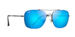 Maui Jim Lava Tube POLARIZED Sunglasses - Satin Dark Gunmetal Blue Hawaii