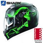SHARK S900C Glow 3 Black Green Motorcycle Road Bike Helmet Race Ride Full Face