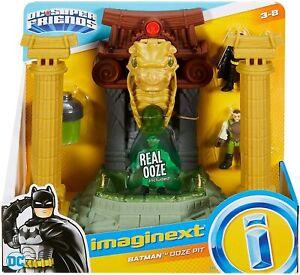 IMAGINEXT BATMAN OOZE PIT WITH TWO FIGURES TOY SET DC SUPER FRIENDS