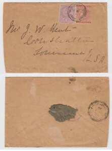 "BC JAMAICA 1900 Sc 22 & 24 ON COVER ""HALF WAY JAMAICA"" TO LOUISIANA, USA"
