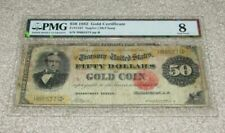"""*RARE* 1882 $50------Certified PMG VG08-------""""SILAS WRIGHT"""" GOLD CERTIFICATE!"""
