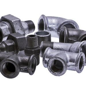 """1/8"""" Black Malleable Iron Fittings BSP Self Colour"""