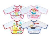 Long Sleeves Baby Feeding Bib Kids Art & Craft Apron Painting Child Coverall New