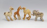 99810076 4 Plüschtiere davon 3x Steiff Lama Dromedar Giraffe Esel