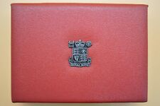 THE ROYAL MINT 1985 7 COIN PROOF SET IN A DELUXE RED LEATHER CASE