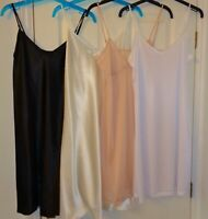 EX HIGH ST STORE FULL SLIP CHEMISE NIGHTIE BLACK WHITE NUDE CREAM 10 - 22 NWOT