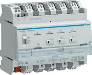 KNX easy HAGER TXA663A DIMMAKTOR 3-fach / 3x300W ESL / LED ++ NEU ++ OVP