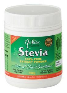 Nirvana Organics Organic Stevia Extract Powder 100g
