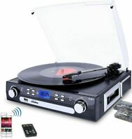 Bluetooth Record Player with Stereo Speakers, Turntable for Vinyl to MP3.