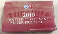 2010-S US MINT SILVER PROOF SET - Complete w/ Original Box and COA