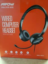 Mpow 3.5mm Wired Headphones Computer Over Ear Headset Stereo for PC Laptop Skype