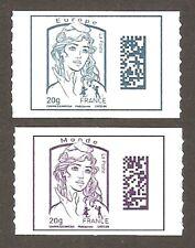 2015 Autoadhésifs n° 1176 et 1177 Marianne de CIAPPA Neufs** LUXE