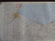 1949 - ANTIQUE Map of Toledo, OH & Monroe, MI - Topographic - US Army