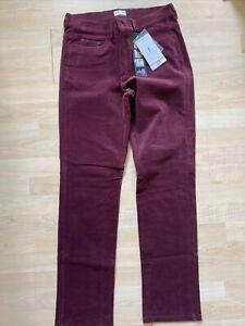 NWT Golfino Ladies Corduroy Golf Trousers Slim Fit 3269324 451 Purple Sz 12 14