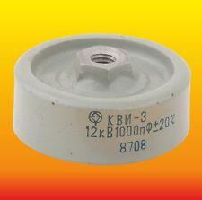 1000 pF 1 nF 12 kV LOT OF 2 DOORKNOB HIGH VOLTAGE CERAMIC CAPACITORS KVI-3