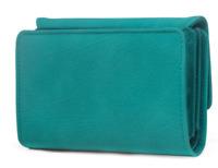 New Mundi My Big Fat Wallet Bluish Green ZIP  Around Clutch Wristlet Organizer