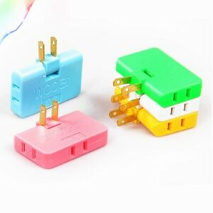 US Adapter One In Three Converter 180 Degree Rotation Extension Plug