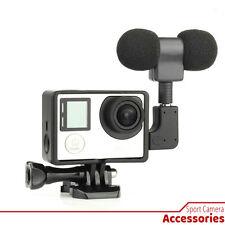 Kit Skeleton Open Housing Case + Microphone + Adapter for Gopro Hero 4 / 3+ / 3