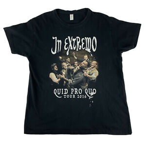 In Extremo Quid Pro Quo 2016 Tour Band Tee T-shirt Size XL
