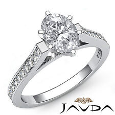 Oval Diamond Classic Fine Engagement Ring GIA G Color VS2 14k White Gold 1.25 ct