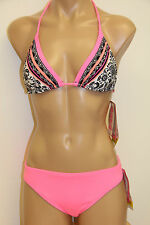 NWT Coco Rave Swimsuit Bikini 2 pc set Size XS  30/32 B-cup  Pink bottom Slide