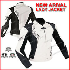 Motorcycle Women New Motorbike Biker Ladies Leather Jacket MJK-304-A(US MEDIUM)