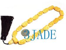 Hand Carved 18 Arhats Bone Prayer Beads Mala