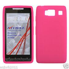 Motorola Droid Razr HD XT926 SILICONE GEL SKIN SOFT COVER CASE HOT PINK