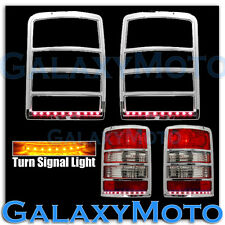 Chrome Taillight+Brake+Turn Signal Function LED Cover for 08-13 JEEP LIBERTY