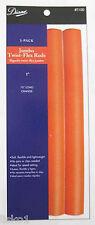 "Diane T100 Twist Flex Perm Rods - Orange  JUMBO 1"" X 10""   3-PACK"